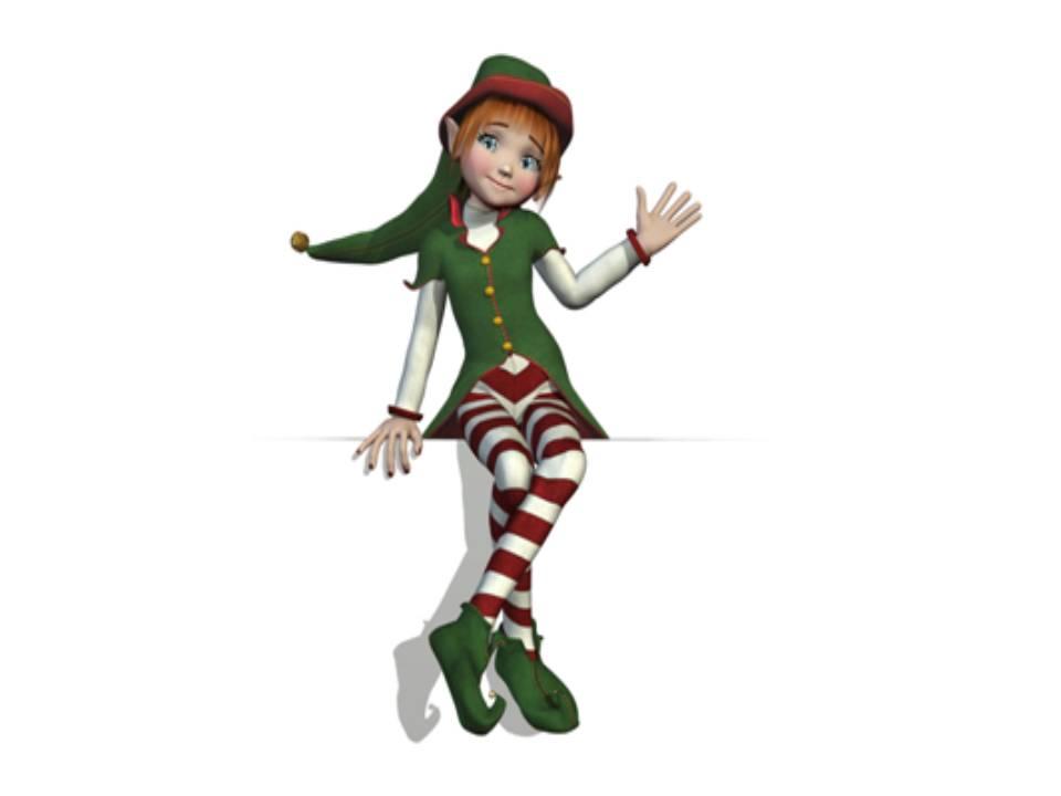 Christmas elf imconfident