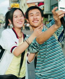 Couple Using Camera