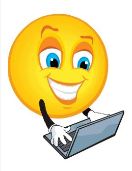 happy face with laptop