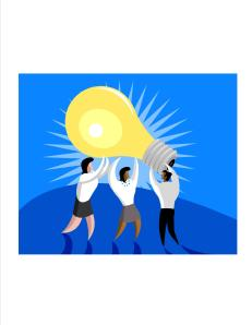 people carrying light bulb