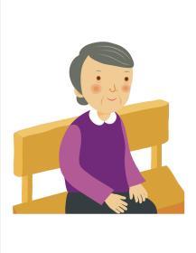 grandma on a bench