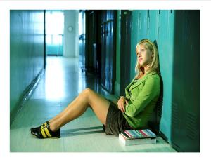 TEEN GIRL IN HALL