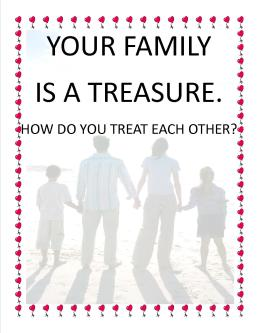 POSTER P33 YOUR FAMILY IS A TREASURE