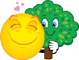 smiling hugging tree