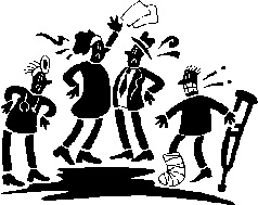 4 hurt arguing