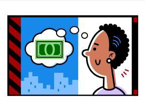 lady thinking about money
