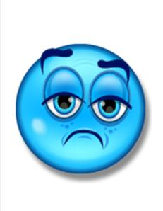 blue sad face