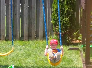landon on swing summer 2014