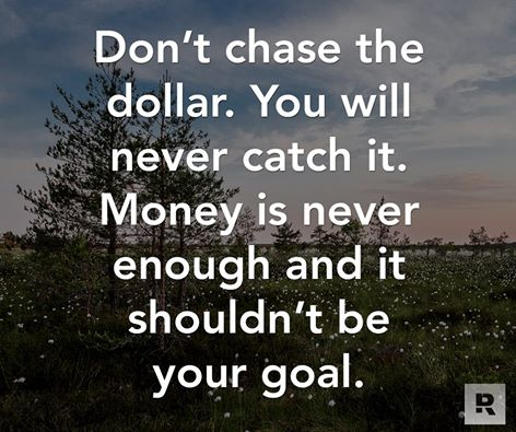 don't chase the dollar