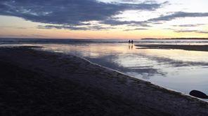 sandbanks at night