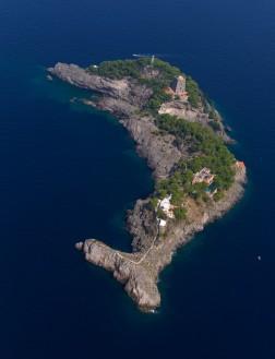 gallo lungo, the dolphin island, italy